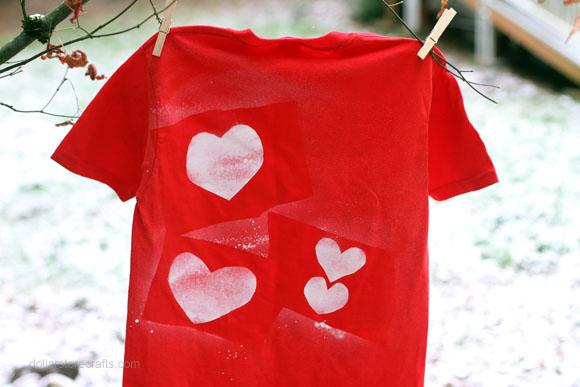valentine heart stencil shirt