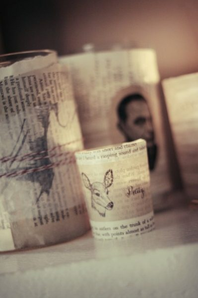 book page votives