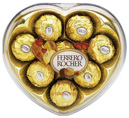 ferrero rocher heart box