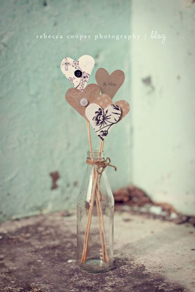 hearts on a stick centerpiece