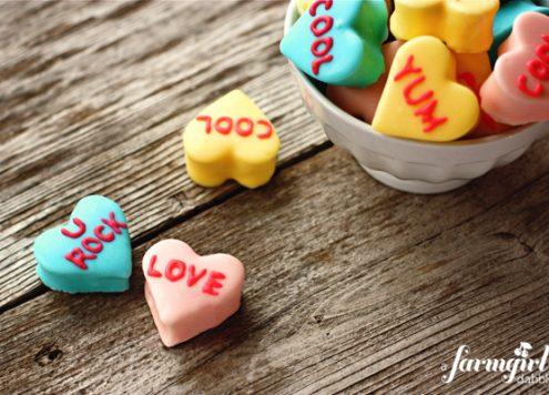 homemade marshmallow conversation hearts