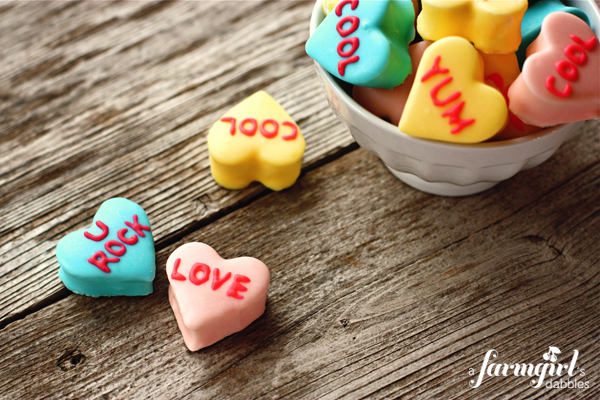 Make Homemade Marshmallow Conversation Hearts – Dollar Store Crafts