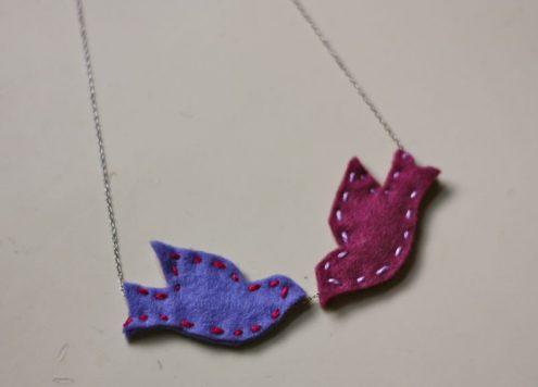 lovebird necklace