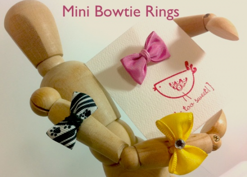 mini bowtie rings