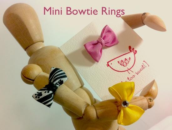 mini bowtie rings