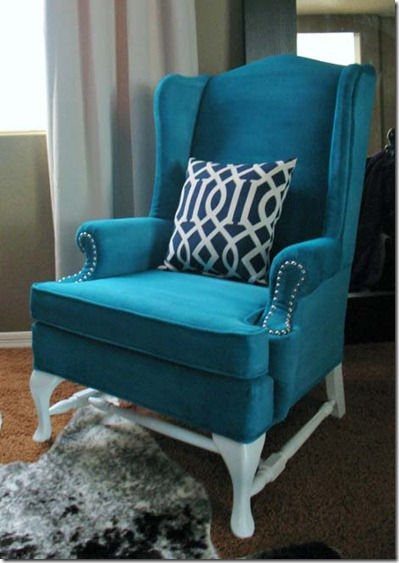 plain turquoise chair