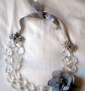 ribbon beaded necklace