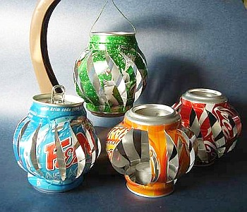 Craft Ideas  Recycled Materials on Dollar Store Crafts    Blog Archive    Make Soda Can Lanterns