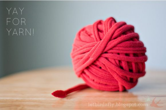 ball of tshirt yarn