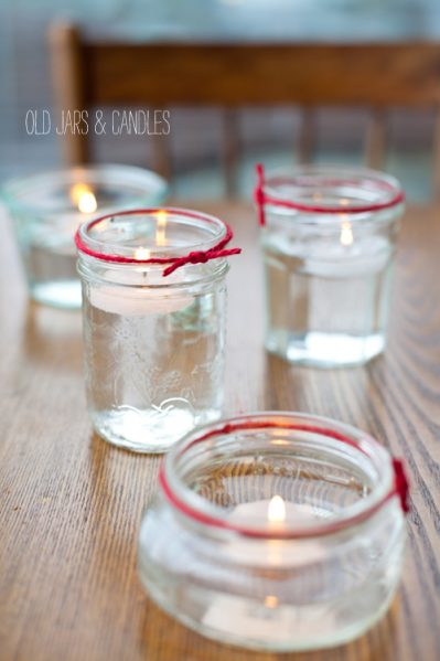 mason jar water candle