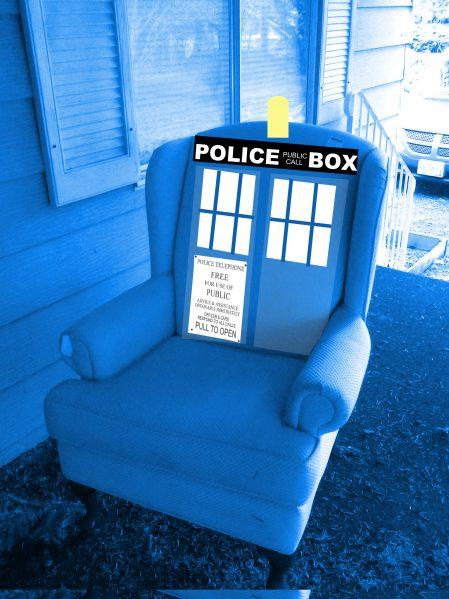 wingback chair tardis
