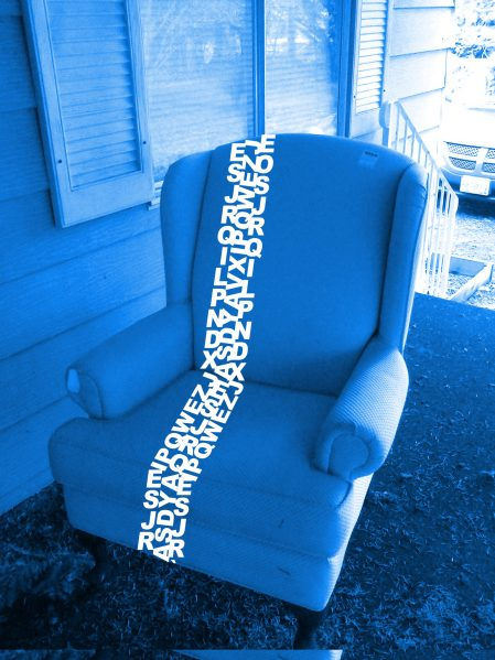 wingback typography chair