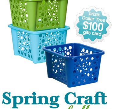 Dollar Store Crafts spring craft challenge