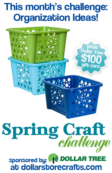 Dollar Store Crafts spring craft challenge
