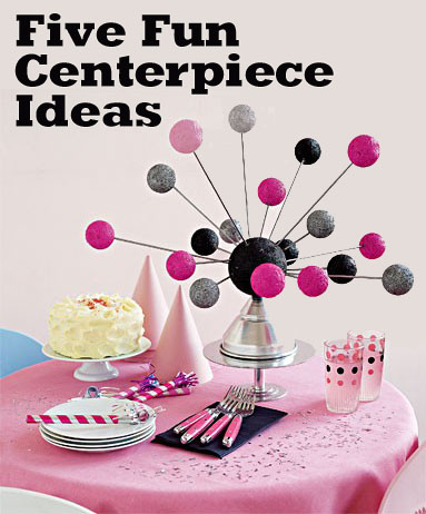five fun centerpiece ideas