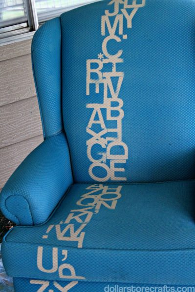 blue chair painted
