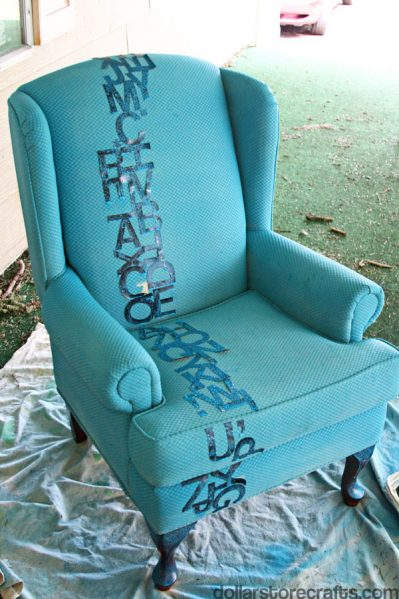blue painted chair