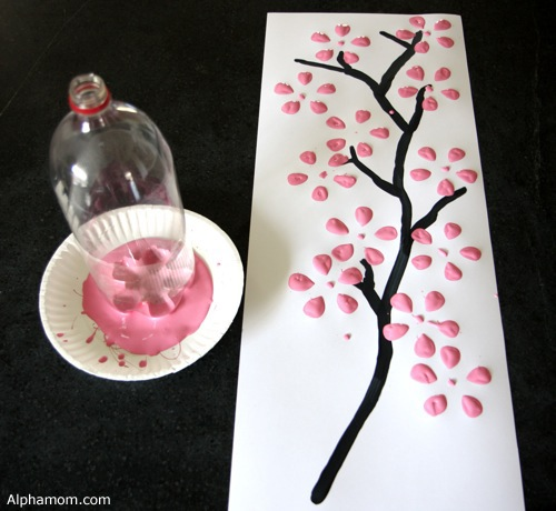 Dollar Store Crafts » Blog Archive » Make Easy Cherry Blossom Art