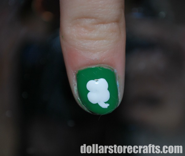 Tutorial Lucky Four Leaf Clover Nail Polish Dollar Store Crafts