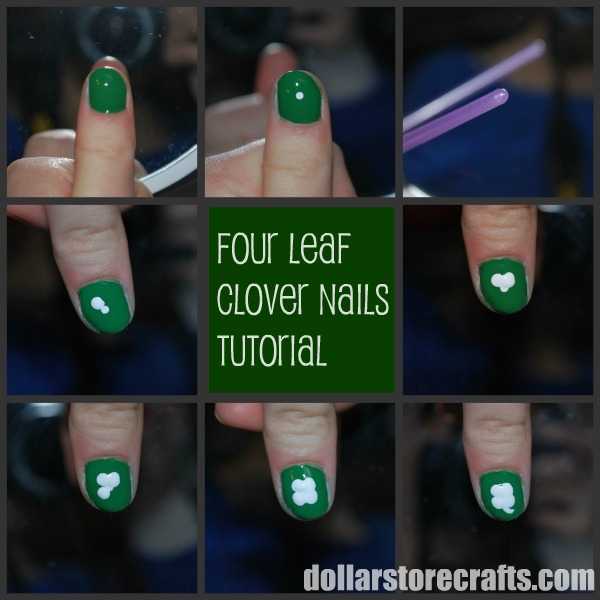 Tutorial: Lucky Four Leaf Clover Nail Polish » Dollar Store Crafts