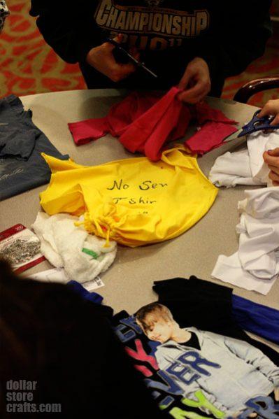 girls event tshirt bags