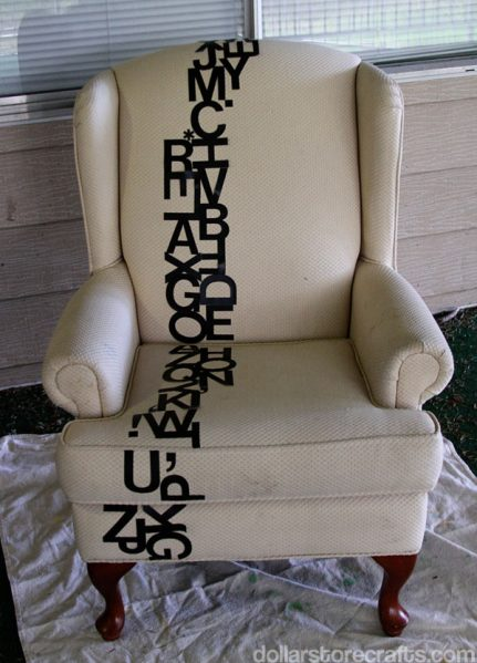 typography chair step 1