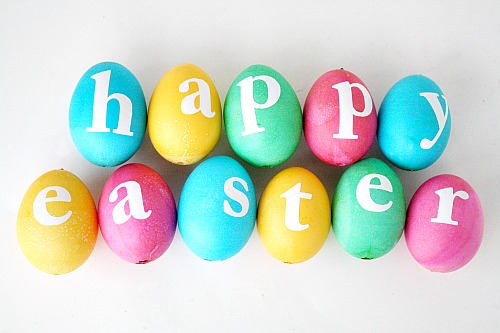 Happy Easter Egg Garland Tutorial