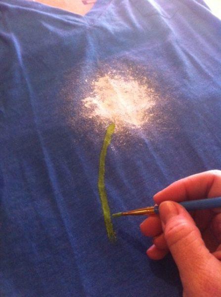 paint the stem