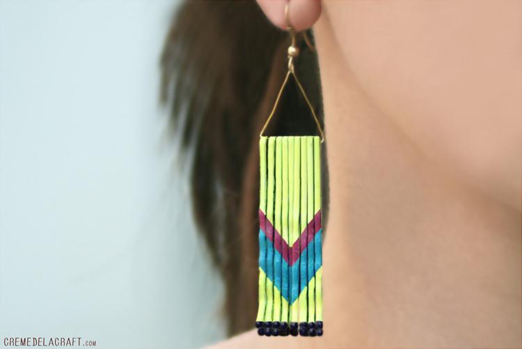 make chevron bobby pin earrings 187 dollar store crafts
