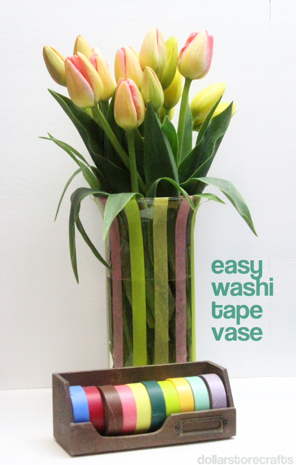 easy washi tape vase