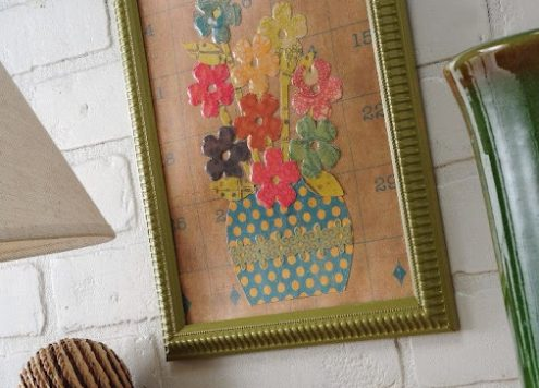 Mod Podge Collage with Dimensional Magic