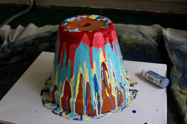 drippy painted pottery