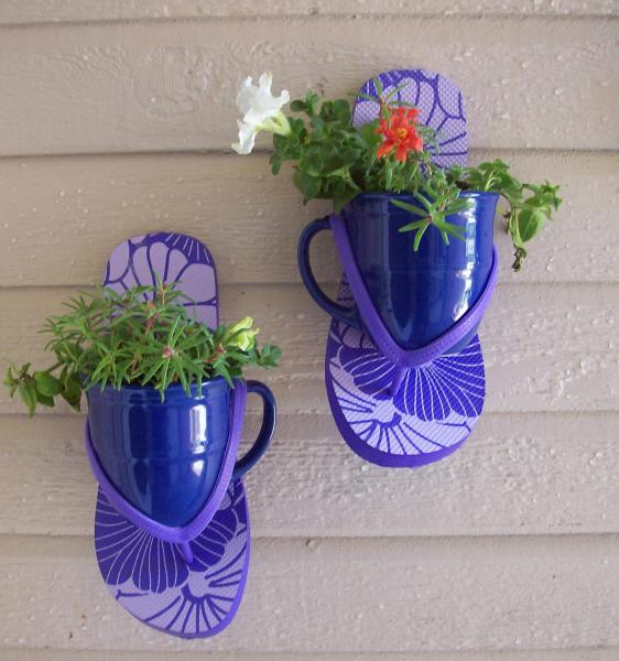 Make Flip Flop Plant Sconces Dollar Store Crafts