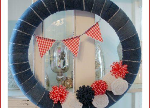 pool noodle wreath