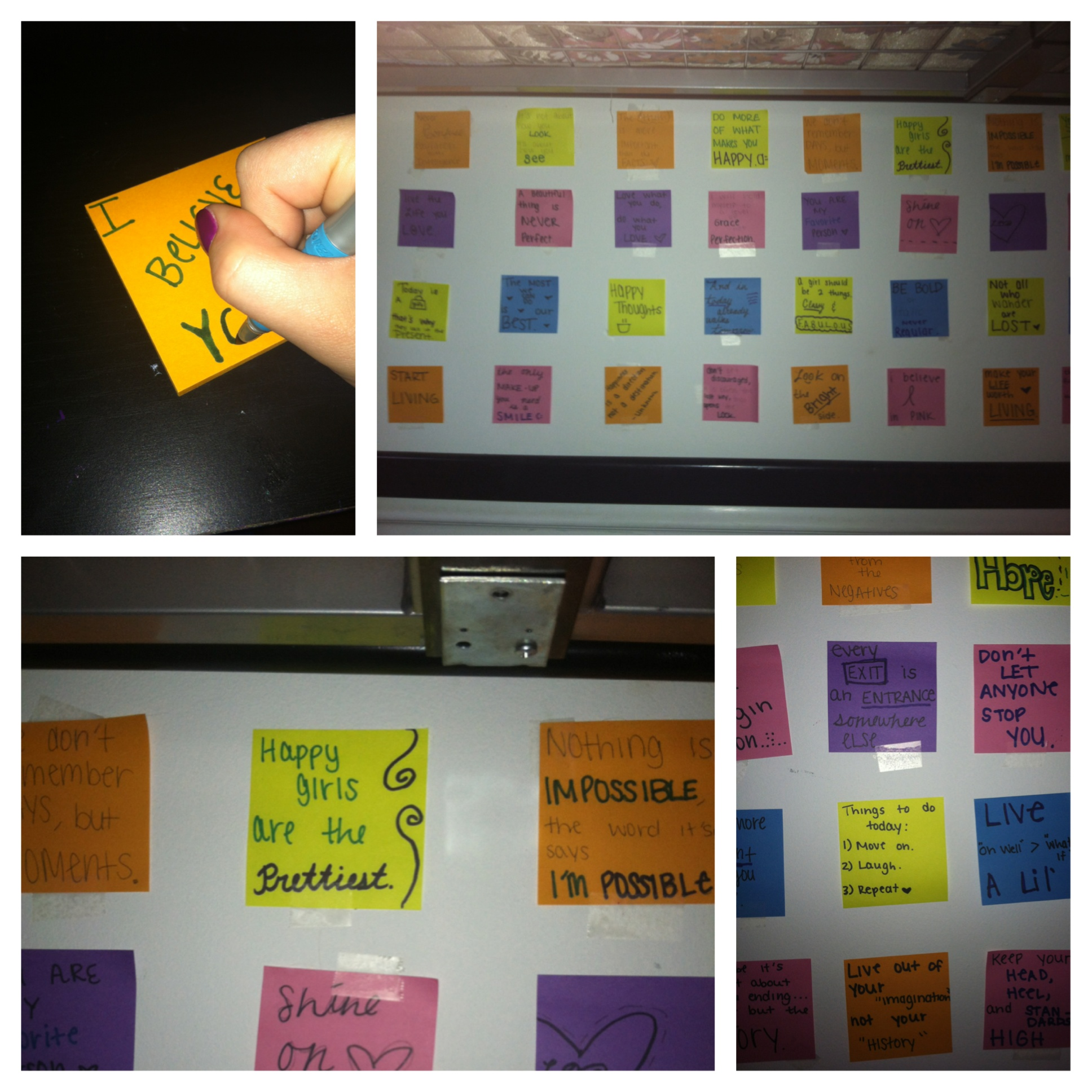 Quotes On Sticky Notes: Tutorial: Inspirational Quote Wall » Dollar Store Crafts