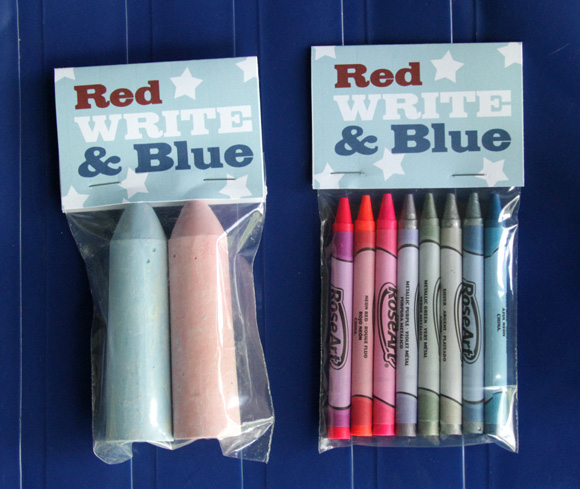red write blue party favors