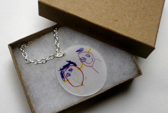 shrinky necklace
