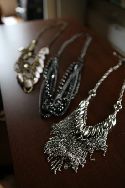 styled necklaces