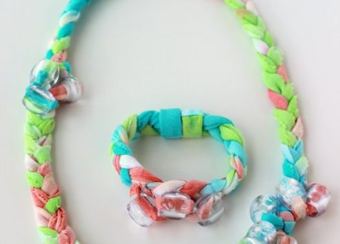 Tie Dye Fabric Jewelry