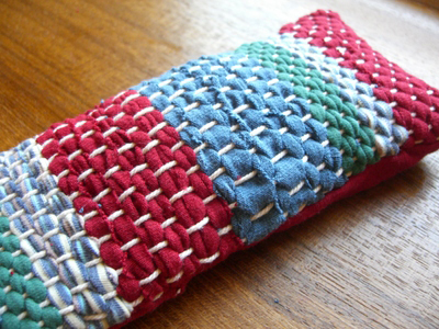 recycled t shirts into woven fabric dollar store crafts