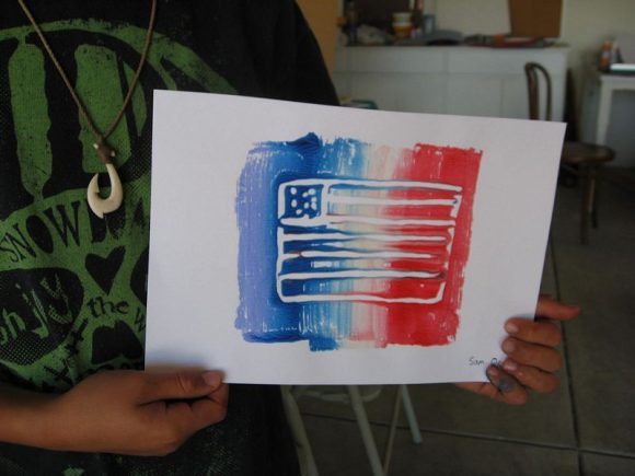 Kinder Garden: Make 4th Of July Mono Prints » Dollar Store Crafts