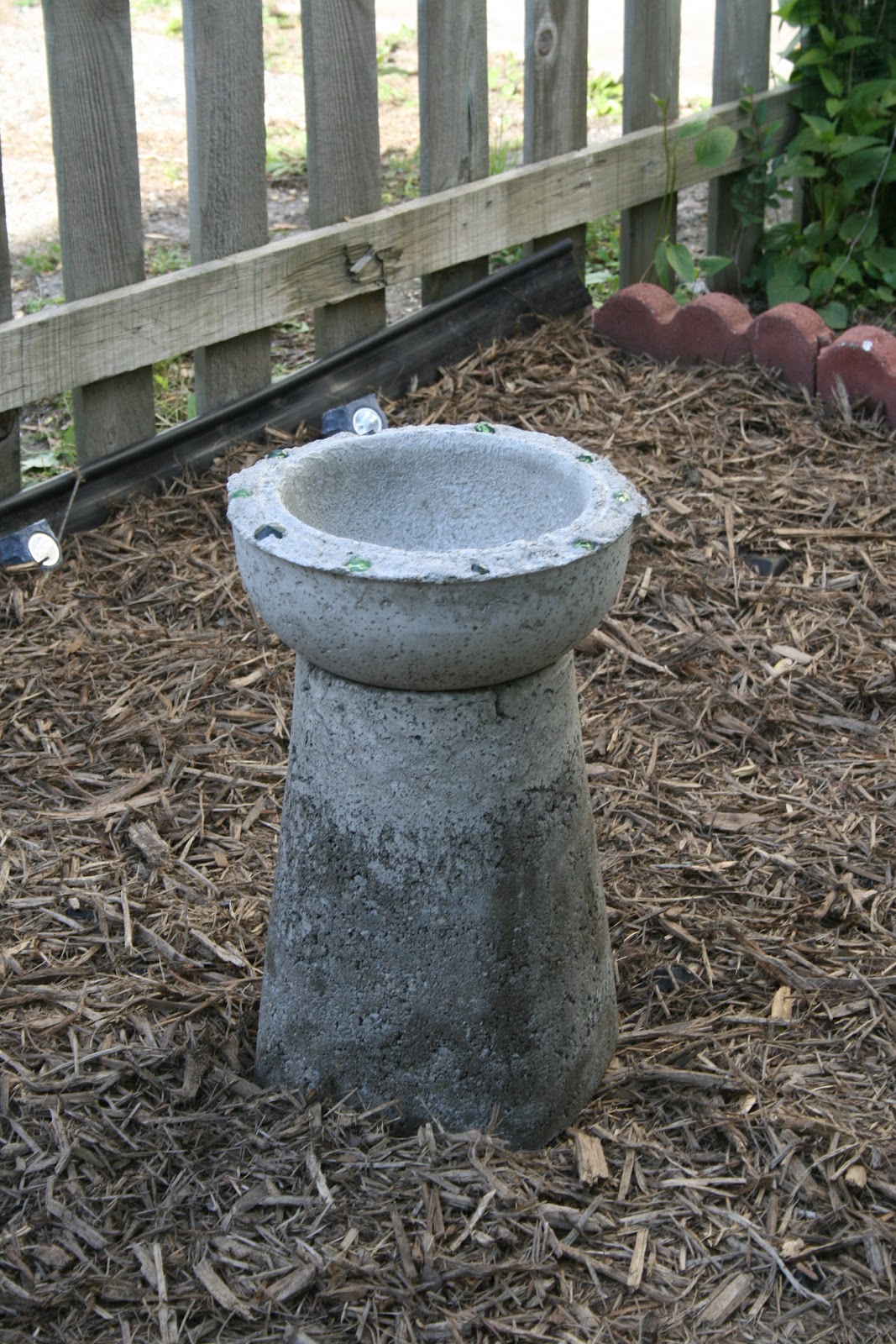 make a concrete bird bath dollar store crafts