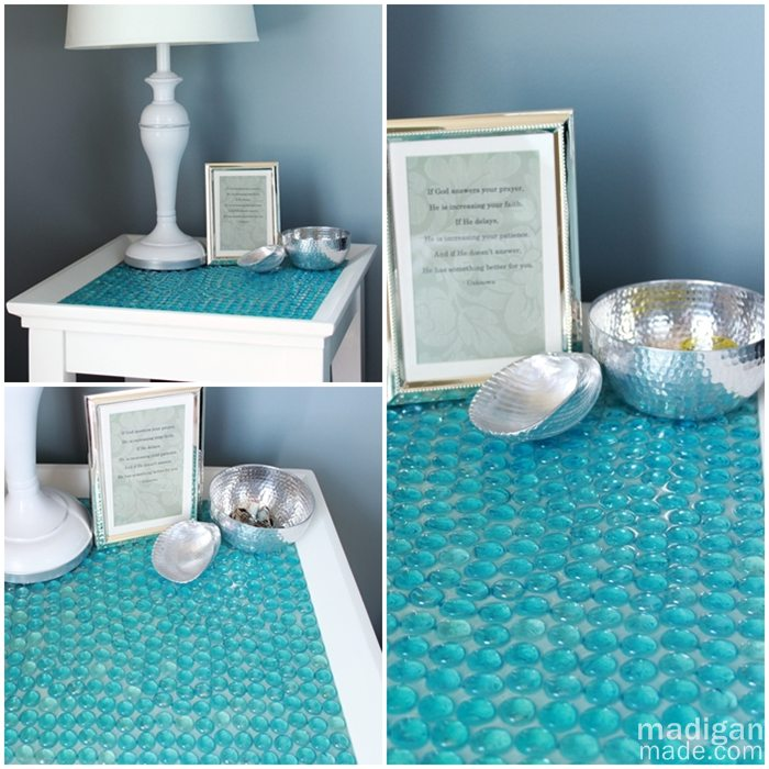 Make A Glass Marble Tiled Table Dollar Store Crafts