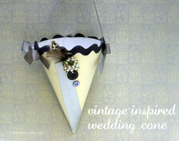 vintage inspired wedding cone