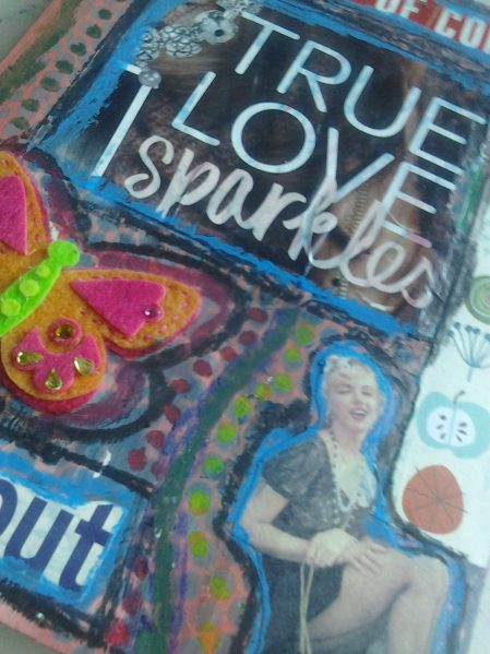 dollar store art journal