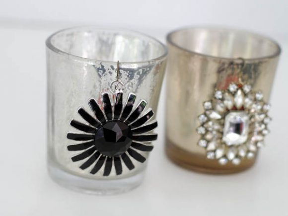 bling up your glass votives