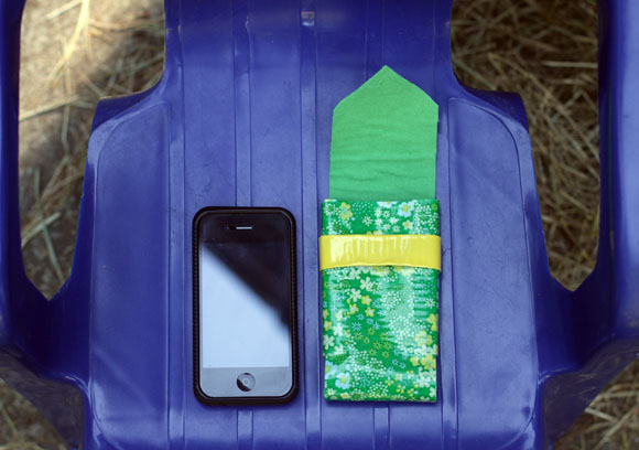 fabric-lined duct tape phone case
