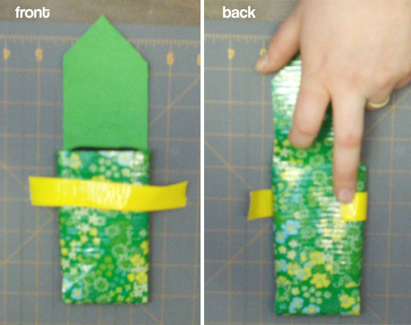 duct tape phone case - strap front and back