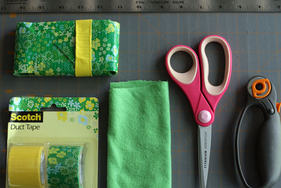 fabric-lined duct tape phone case -- supplies you need