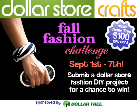 Dollar Store Crafts Fall Fashion Challenge Sept 1-7th